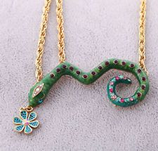 Vintage Fashion Women Snake Style Metal Carving Pendant Necklace BJ SS122