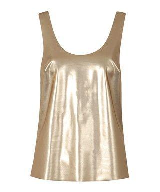 Lita gold-tone scoop neck vest Sale - Louche Sale