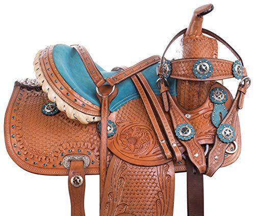 Details about  /Western Barrel Racing Youth Child Pony Miniature Premium Leather Horse Saddle