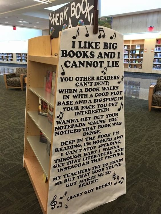 Librarian Brittney Ash enjoys making library users smile, and her latest display…