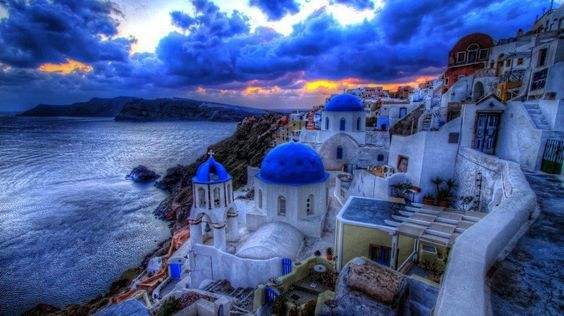 Santorini caldera, Greece  Follow pic for more pics
