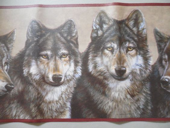 "Wolf Wallpaper Border 9"" x 15' New Expressions"