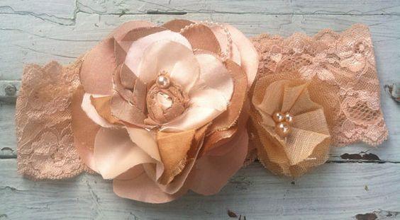 Cream Gold Dupioni Silk Fabric Flower by RhysandRaesCreations, $18.00
