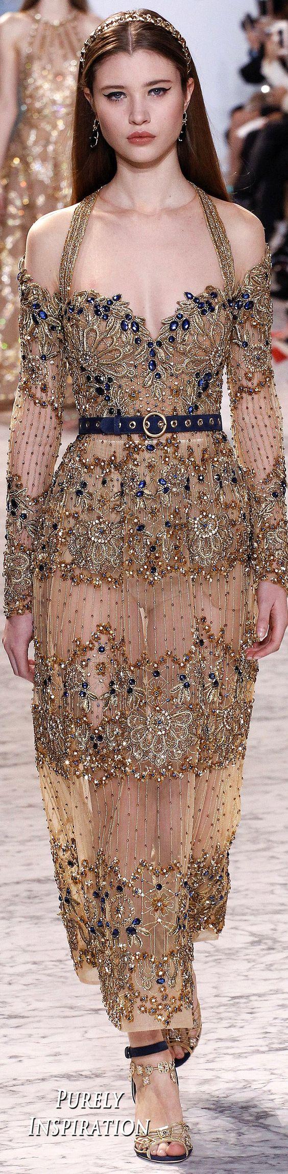 Elie Saab 2017 Fashion Women alta costura primavera de |  Puramente Inspiração: