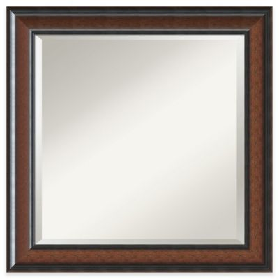 Simple Cyprus 25 Inch X 25 Inch Wall Mirror In Walnut Round Wall Mirror Cheap Wall Mirrors Mirror