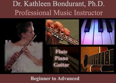 Professional Music Instructor, Dr. Kathleen Bondurant