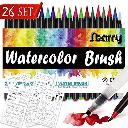 Dyffle Brush Pen Set 201pinselstiften Aquarellpinsel5schablonen