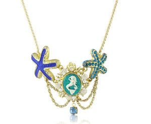 BETSEY JOHNSON Jewelry Sea Excursion Mermaid CAMEO Starfish Necklace