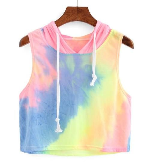 For Those Of Us Who Love Color This Multi Color Tank Hoodie Is A