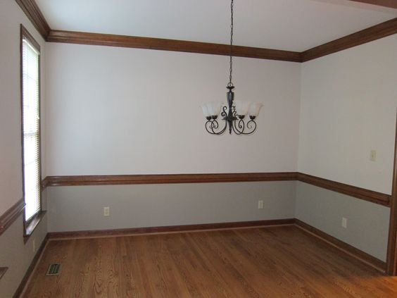 Dining Rooms With Stained Chairrail How To Paint A Dining Room With A Chair
