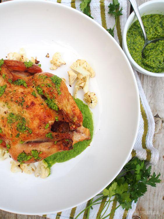 Roast Chicken & Olive Chimichurri