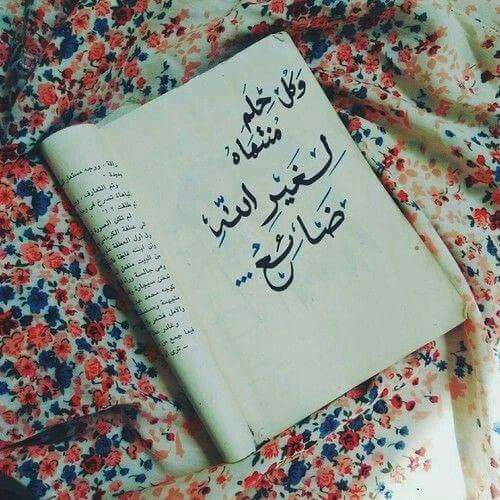 كل حلم منتهاه لغير الله ضائع Arabic Quotes Paper Quote Quotations