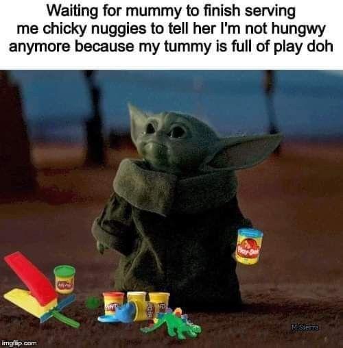 Pin By Baby Yoda Love Mel Lafferty On Baby Yoda Memes Yoda Meme Baby Memes Funny Babies