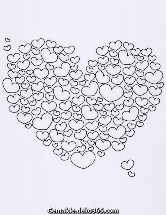 Ausgezeichnet Ausmalbilder Problemlos Zu Zeichnen Und Zu Malen Gesamtanzahl Bilder Heart Coloring Pages Valentines Day Coloring Page Valentine Coloring