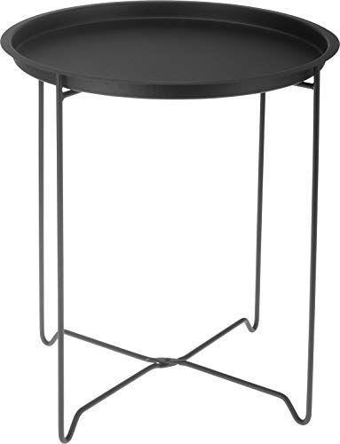 Metall Beistelltisch Schwarz Mit Tablett Faltbar Sofatisch Couchtisch Tisch Spetebo In 2020 Metalltische Beistelltisch Schwarz Sofa Tisch
