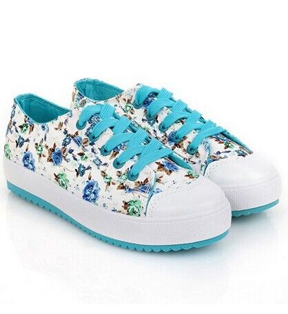 Sweet Women's Canvas Shoes With Floral Print and Platform Design Color: BLUE, PLUM, NEON GREEN Size: 35, 36, 37, 38, 39 Category: Shoes > Women's Shoes > Sneakers   Gender: For Women  Closure Type: Lace-Up  Shoe Width: Medium(B/M)  Pattern Type: Print  Upper Material: Canvas  Season: Spring/Fall  #trndysneakersforwomen #trendysneakers #womensneakers #canvassneakers #bridgat.com