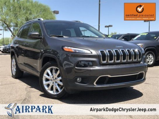 Sport Utility 2016 Jeep Cherokee Fwd Limited With 4 Door In Scottsdale Az 85260 2016 Jeep Jeep Cherokee Jeep