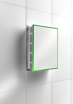 Neat idea!  An exhaust fan that you pop it open - when needed - or pop it back in and it looks like just another tile in your bathroom!