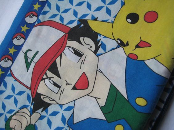 Pokemon Nintendo FULL Size Sheet Craft Fabric by missussewnsew, $16.75