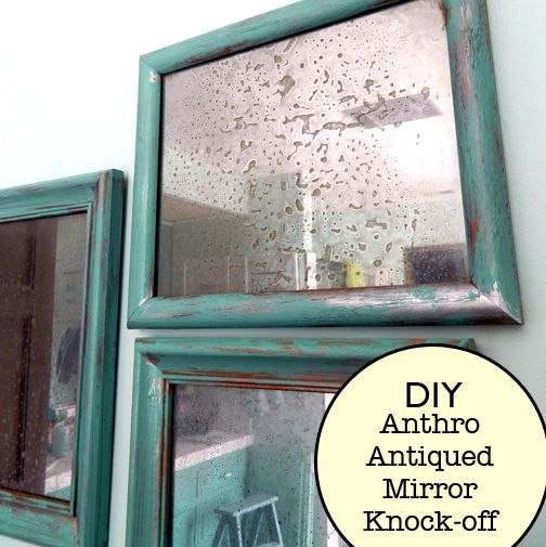Chemical free Anthropologie mirror knock off tutorial from Home Heart Craft