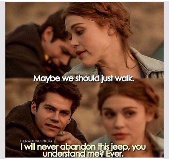 Teen wolf ~ Stiles and his jeep are forever ~ It's either the jeep or the bat... Oh Stiles <3