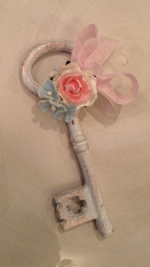 Shabby chic skeleton key for birthday decoration and mother's day ...