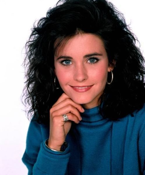 Courtney Cox in FAMILY TIES during the late 80's. | That ...