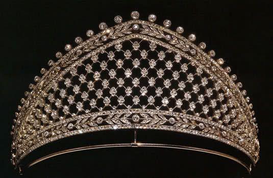 Tiara de  Faberge , c. 1900. De la princesa Cecilie de Alemania (1886-1954).