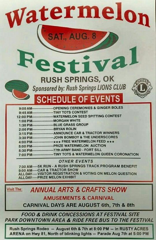 Oklahoma watermelon festival!