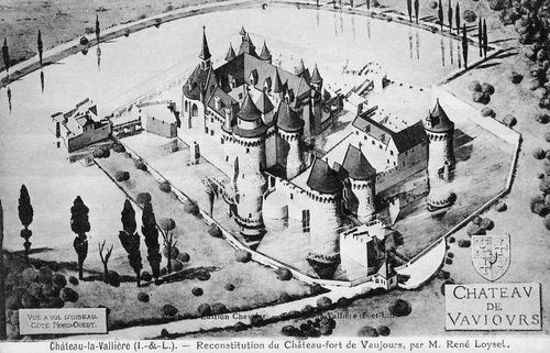 A reconstructed image of the Château de Vaujours, part of the Duchy de Valliere that Louis XIV created for Louise de La Valliere in 1667 as a parting gift when he ended their relationship.