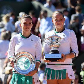 Finalistas Roland Garros 2017 Ostapenko and Halep: