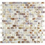 "Shore 0.56"" x 0.88"" Seashell Mosaic Tile in Natural"