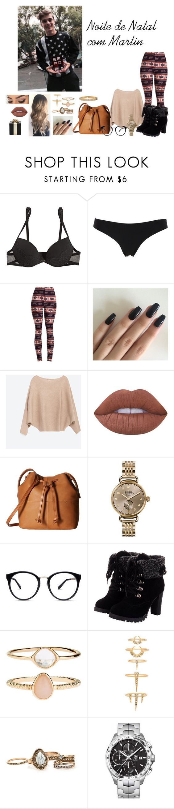 """Sem título #874"" by sr-magcult-bieber-gomez ❤ liked on Polyvore featuring La Perla, Zara, Lime Crime, ECCO, Shinola, Accessorize, Luv Aj, TAG Heuer, Kate Spade and Cartier"