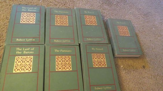 5 Volume  Book Set: Bulwer's Works - Lord Lytton - Rand Mcnally&co Antique
