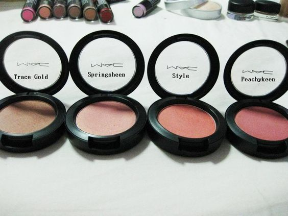 MAC Blushes in Trace Gold, Springsheen, Style & Peachykeen ...