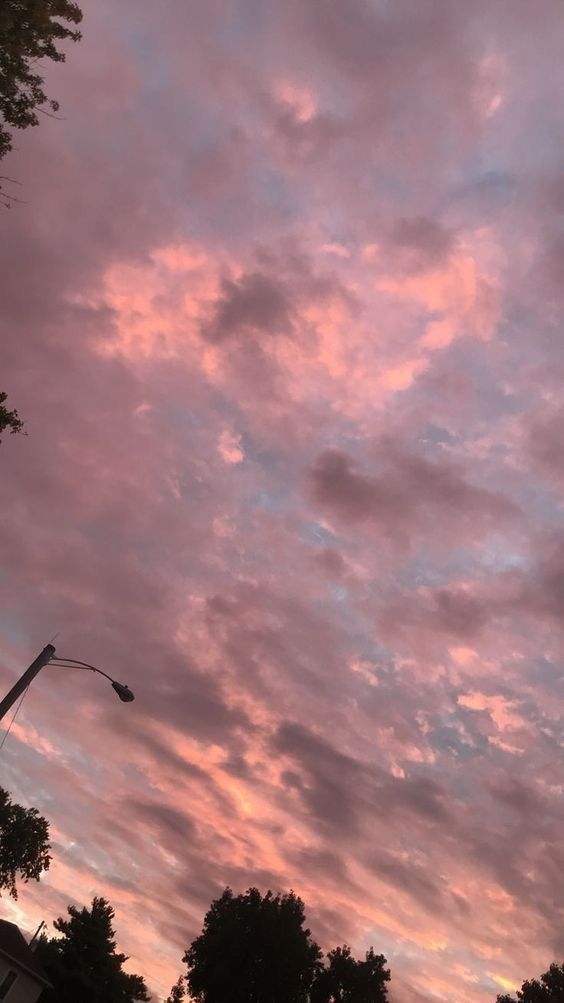 Pink Sky Aesthetic Pretty Sky Sunset Wallpaper