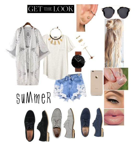 """Get ready for summer"" by mya-zari ❤ liked on Polyvore featuring X-Ray, H&M, Forever 21, Lizzie Fortunato, Motorola, Christian Dior and Chicnova Fashion"