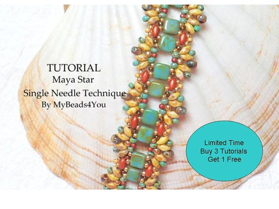 Beading Tutorial PatternBeading InstructionSeed by mybeads4you Special! July 23-31 Just buy 3 tutorials and receive 1 FREE! Leave a note which tutorial of equal or lesser value you would like for me to send you for FREE.  Buy 3 tutorials receive 1 free, Buy 6 tutorial and receive 2 free! https://www.etsy.com/shop/mybeads4you/items?section_id=11439617