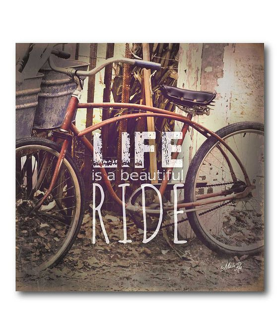 Look at this 'Ride of Life' Wrapped Canvas on #zulily today!