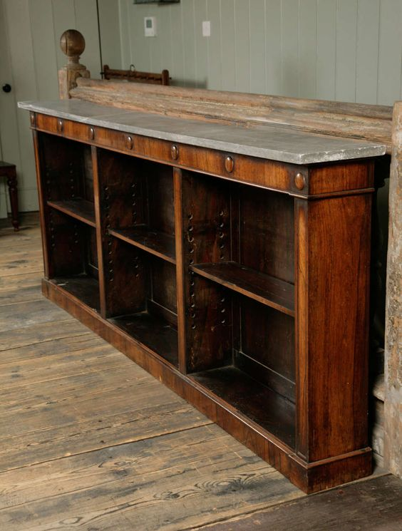 Good Regency Marble Topped Rosewood Bookcase | From a unique collection of antique and modern bookcases at https://www.1stdibs.com/furniture/storage-case-pieces/bookcases/