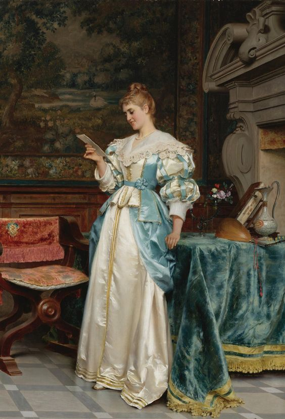 """""""Agreeable Tidings"""" By ~ Tito Conti ~ 1842 - 1924."""