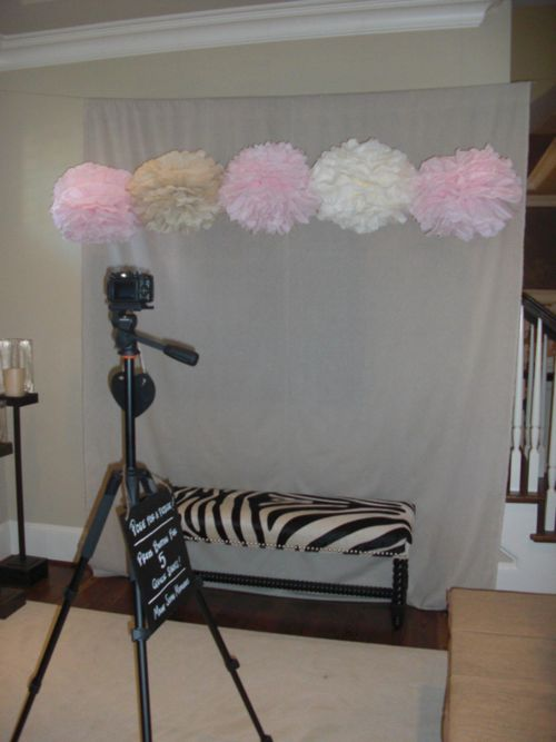 Girl Baby Shower Photo Booth! What do you think about this Mur? Make it nicer looking, but I think it would be fun :)