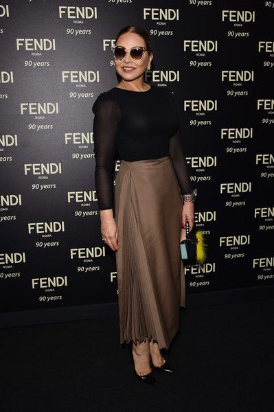 Ornella Muti attends the Fendi Roma 90 Years Anniversary Welcome Cocktail at Palazzo Carpegna on July 7, 2016 in Rome, Italy.