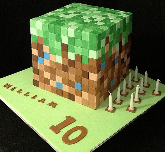 Minecraft Images For Birthday Cake : Minecraft, Cakes and Minecraft birthday cake on Pinterest