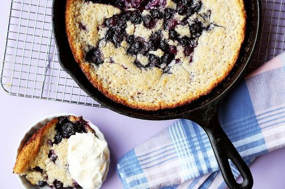 Blueberry Hazelnut Cobbler Cake is the perfect summer dessert. Fresh blueberries baked into an easy hazelnut cake batter. Best served warm with ice cream!