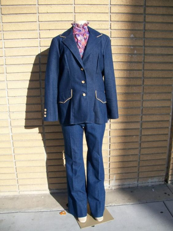 SALE Vintage Jackie Brown Suit by PartlyYellow on Etsy, $35.00