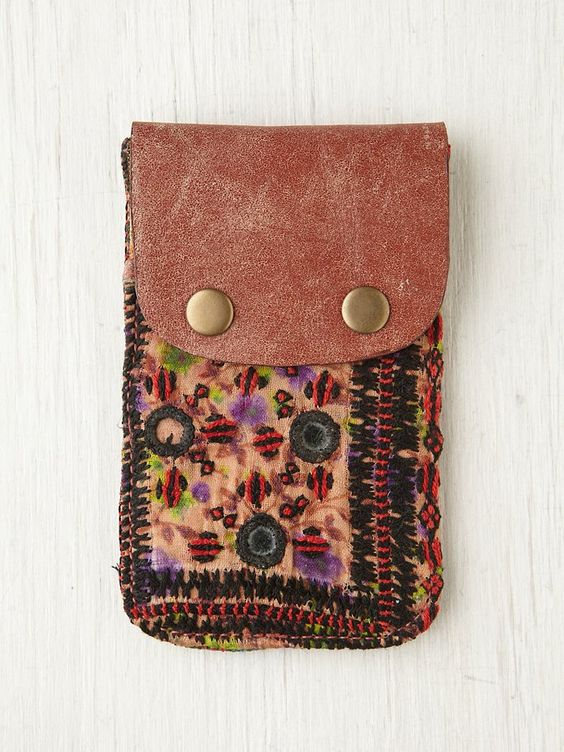 Free People Tapestry iPhone Wallet, $28.00: