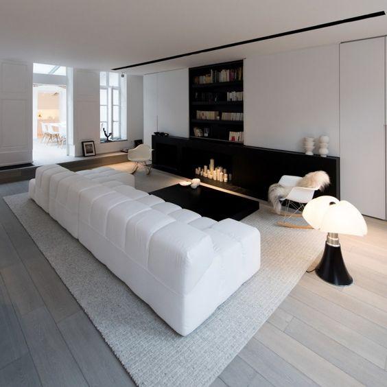 D co salon blanc pour une atmosph re accueillante 80 - Deco salon moderne noir et blanc ...