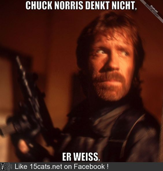 Chuck Norris denkt nicht