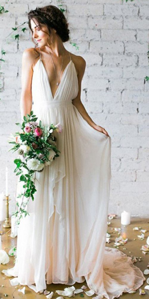 Chiffon Long Wedding Gowns Backless Beach Wedding Dresses Cheap Bridal Dresses Svd542 Cheap Beach Wedding Dresses Beach Wedding Dresses Backless Inexpensive Wedding Dresses
